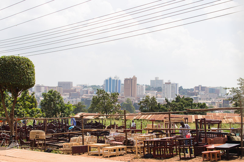 Furniture makers and the Kampala skyline