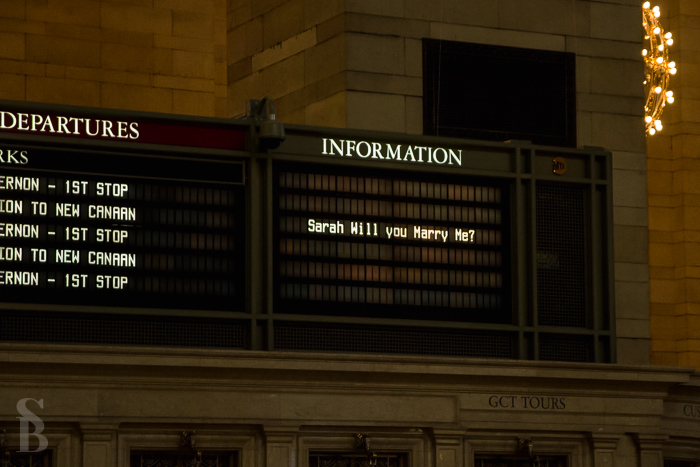 Marriage Proposal at the Grand Central Station